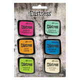 Ranger's Tim Holtz Distress Enamel Pin Brooch showing the colours in Set no.1