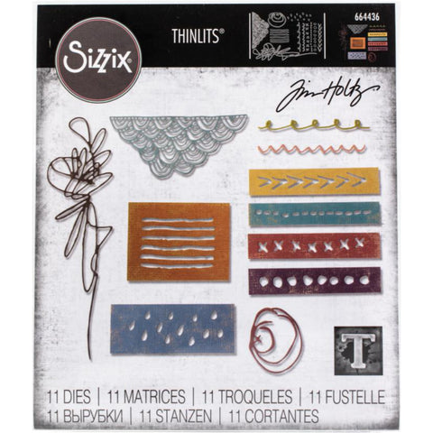 Tim Holtz Thinlits Die Cutting Set by Sizzix - Media Marks