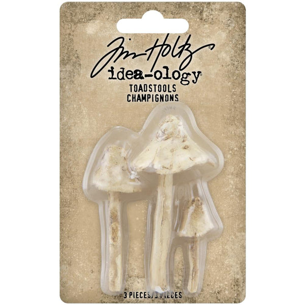 Tim Holtz Idea-Ology - Resin Toadstools - 3 Pieces