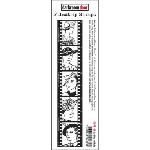 Darkroom Door Filmstrip Stamps - Ladies in Hats - NEW!