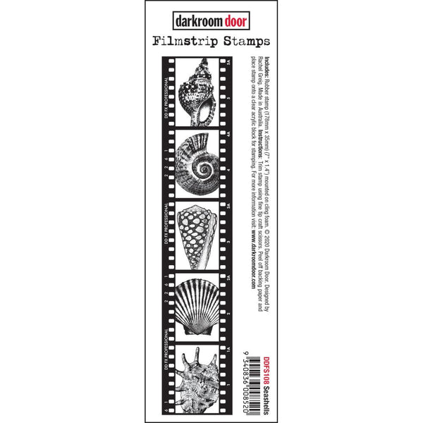 Seashells Filmstrip - cling foam mounted rubber stamps by Darkroom Door