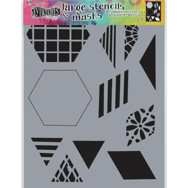 Dylusions Stencil - Large 9x12 - Quilt 2.0 - NEW!