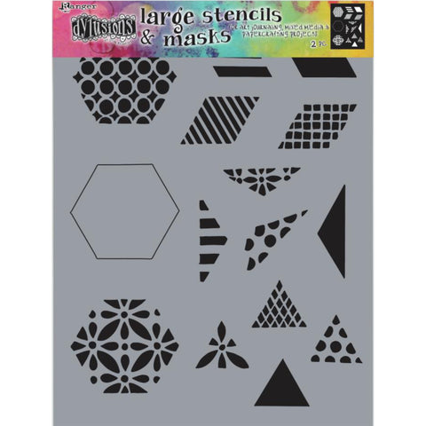 Dylusions Stencil - Large 9x12 - Quilt 1.5 inch - NEW!