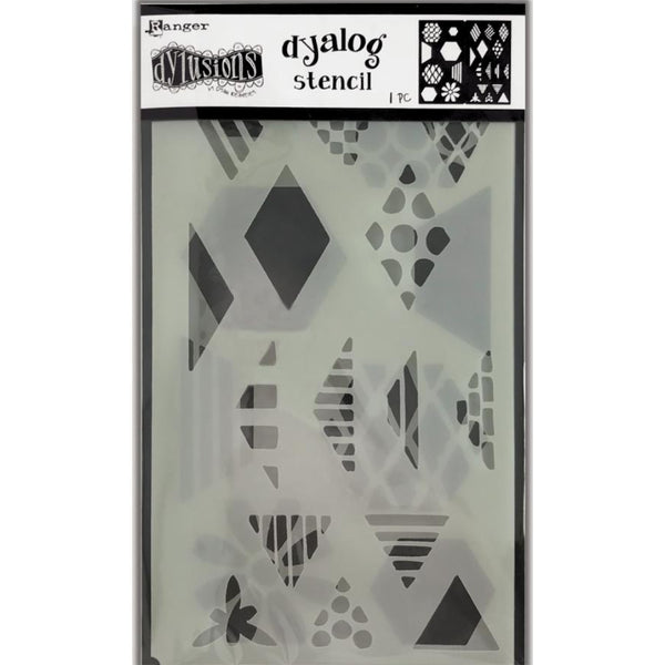 Dylusions Stencils - Dyalog Quilt It - NEW!