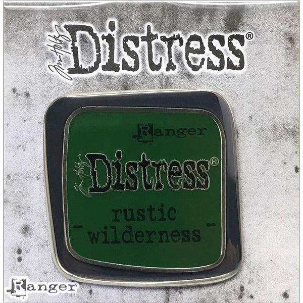 Ranger's Tim Holtz Distress Enamel Pin Badge Brooch in the green colour Rustic Wilderness