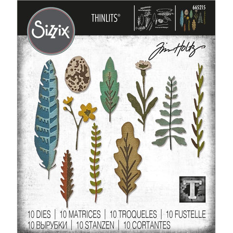 Tim Holtz Thinlits Die Cutting Set by Sizzix - Funky Nature - NEW!
