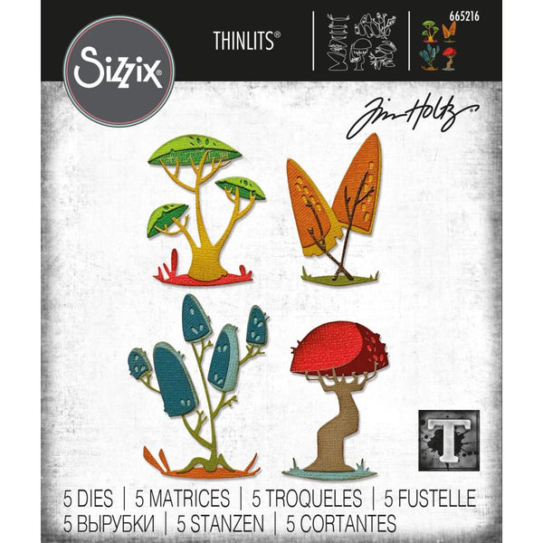 Tim Holtz Thinlits Die Cutting Set by Sizzix - Funky Toadstools - NEW!