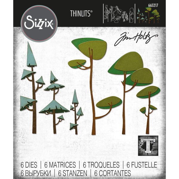 Tim Holtz Thinlits Die Cutting Set by Sizzix - Funky Trees - NEW!