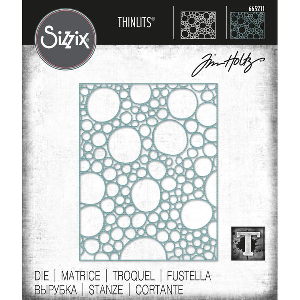 Tim Holtz Thinlits Die Cutting Set by Sizzix - Bubbling - NEW!