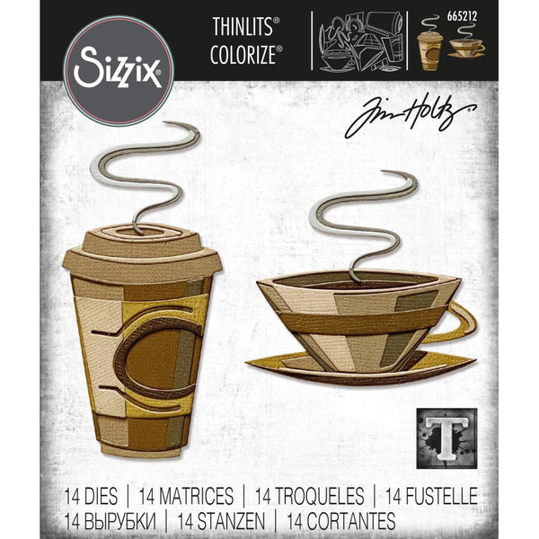 Tim Holtz Thinlits Colorize Dies by Sizzix - Cafe