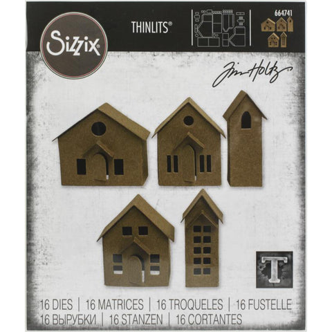 Tim Holtz Sizzix Paper Village Thinlits 664741 Little Houses