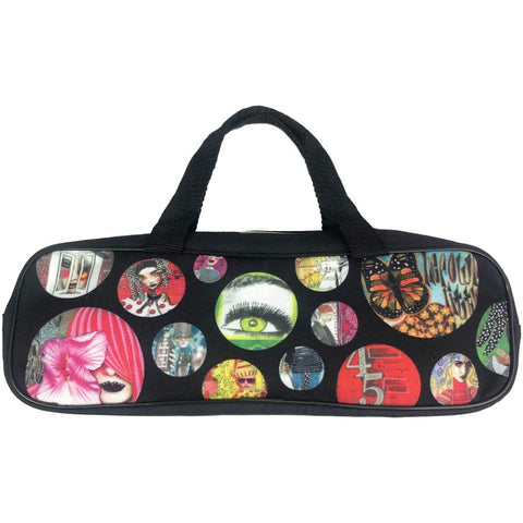 Larger Accessory Bag ... Dylusions by Dyan Reaveley - Portable and practical, with handles, a wide opening for easy access and a flat base
