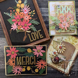 examples from the Tim Holtz design team of 2019 for Funky Floral, Large