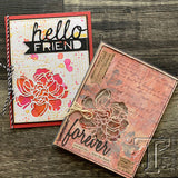 examples by the Tim Holtz design team for sizes for the Sizzix Thinlit die cutting templates CutOut Blossoms
