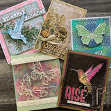 samples from the Tim Holtz design team using Geo Springtime