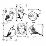 Tim Holtz Cling Stamps - Crazy Birds
