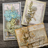 samples by the Tim Holtz Design Team using Wildflower Stems (no.2) Sizzix Die Cutting Templates