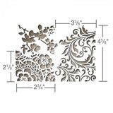 Sizzix Thinlits Die Set by Tim Holtz - image showing measurements