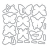 Sizzix Butterfly Die Set by Tim Holtz - image showing the templates