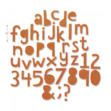 image showing the size of Tim Holtz Thinlits - Die Cutting Set by Sizzix - Alphanumeric CutOut Lower