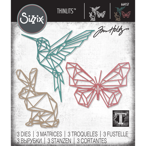 Geo Springtime Sizzix Thinlits Die Cutting Templates by Tim Holtz