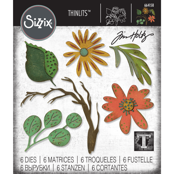 Funky Floral, Large ... Thinlits Die Cutting Templates by Tim Holtz