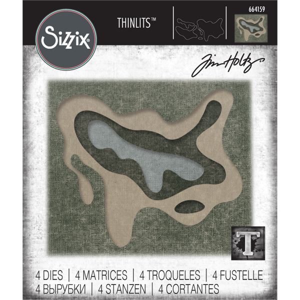 Sculpted ... Sizzix Thinlits Die Cutting Templates by Tim Holtz