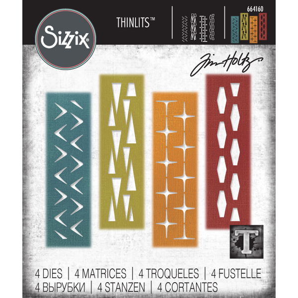 Retro Repeat Sizzix Thinlits Die Cutting Templates by Tim Holtz