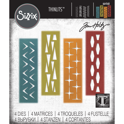 Tim Holtz Thinlits Dies by Sizzix - Retro Repeat - PreOrder Mid Feb