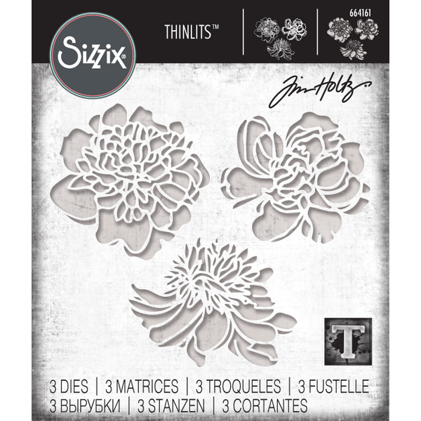 Sizzix Tim Holtz Thinlit die cutting templates CutOut Blossoms