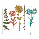 displaying the size for Wildflower Stems (no.1) ... Thinlits Die Cutting Templates by Tim Holtz