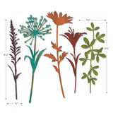 example of the sizes for Wildflower Stems (no.2) ... Thinlits Die Cutting Templates by Tim Holtz