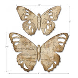 example of the size for Tim Holtz Bigz Die Cutting Template by Sizzix - Tattered Butterflies