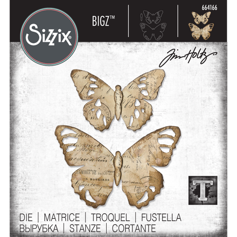 Tattered Butterfly Sizzix Bigz Die Cutting Template by Tim Holtz