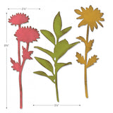 example of the sizes for Large Stems ... Bigz Die Cutting Template by Tim Holtz