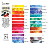 Brusho Crystal Colour Watercolour Pigments colour chart at Art by Jenny