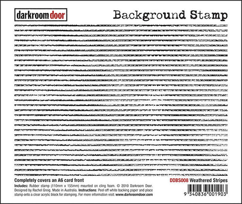 Background Stamp - Weathered Stripes - Darkroom Door