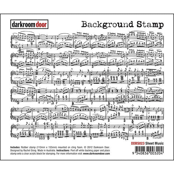 Background Stamp - Sheet Music - Darkroom Door