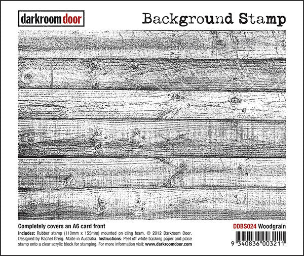 Background Stamp - Woodgrain - Darkroom Door