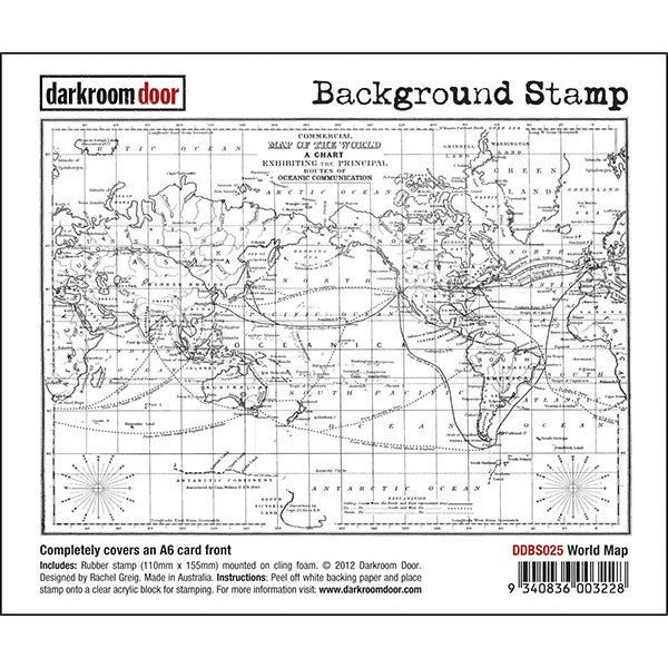 Background stamp world map darkroom door art by jenny online shop background stamp world map darkroom door gumiabroncs Gallery