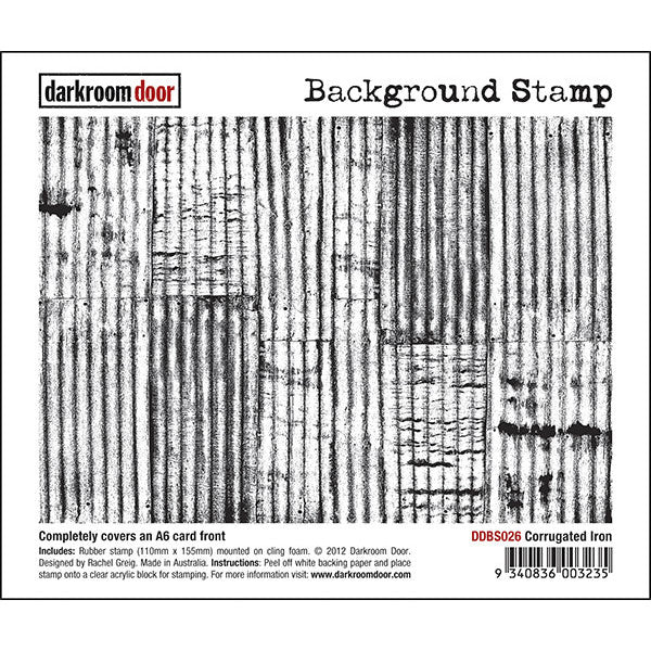 Background Stamp - Corrugated Iron - Darkroom Door