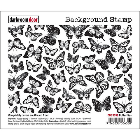 Background Stamp - Butterflies - Darkroom Door