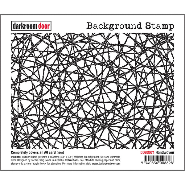 Handwoven ... Background Stamp - cling rubber stamp by Darkroom Door (DDBS071)