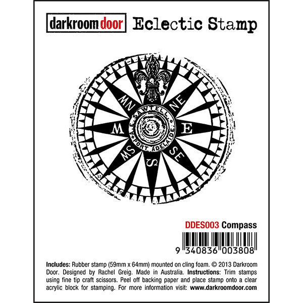 Eclectic Stamp - Compass - Darkroom Door