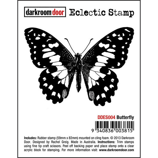 Eclectic Stamp - Butterfly - Darkroom Door