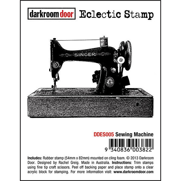 Eclectic Stamp - Sewing Machine - Darkroom Door