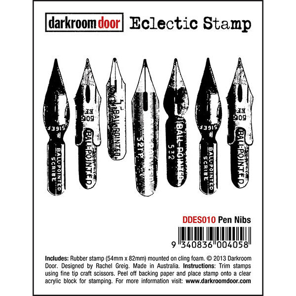 Eclectic Stamp - Pen Nibs - Darkroom Door