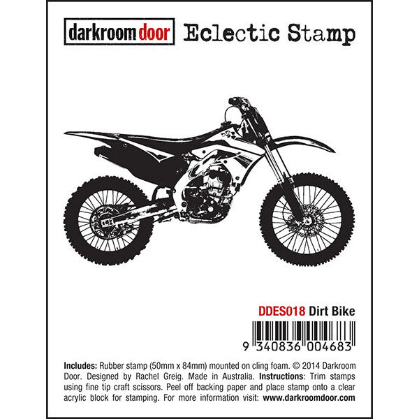 Eclectic Stamp - Dirt Bike - Darkroom Door