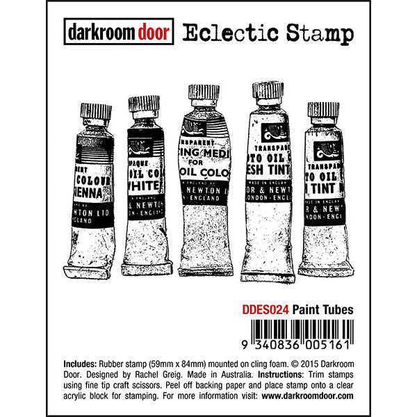 Eclectic Stamp - Paint Tubes - Darkroom Door