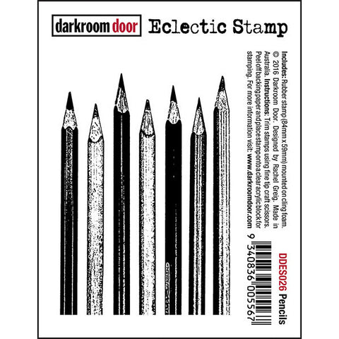 Eclectic Stamp - Pencils - by Darkroom Door